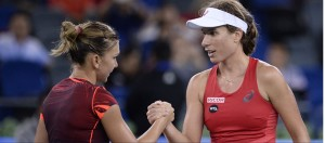 Simone Halep and Johanna Konta