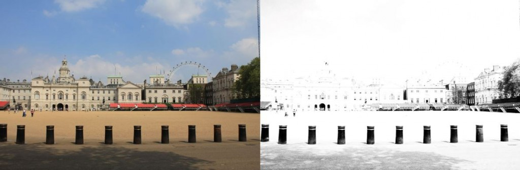 Horse Guard Parade as it was meant to look ... and how it looked to me!